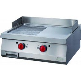GRILL DOUBLE GAZ  1/2 NERVURE 1/2 LISSE A POSER NOVAOGG8070 1/2N